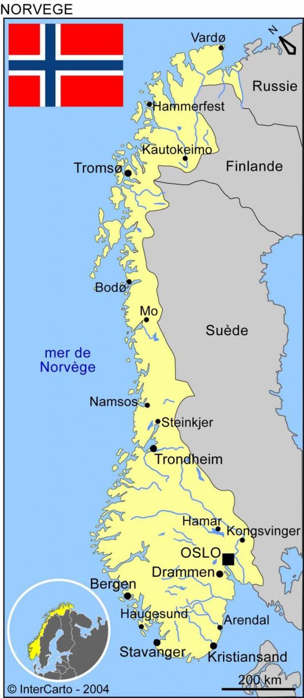 Carte norvege 2