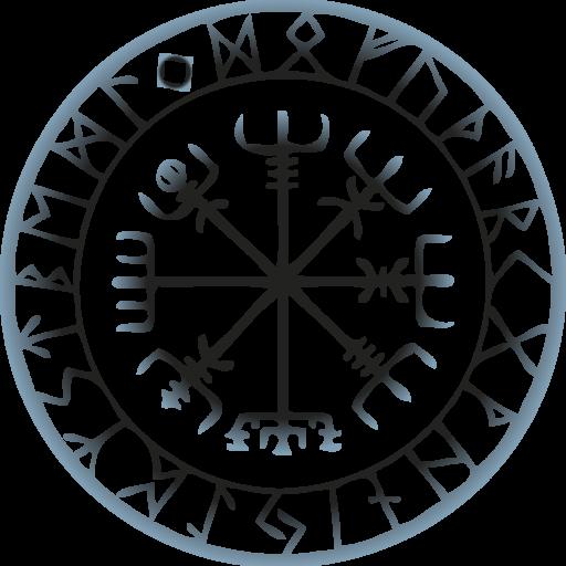Kisspng vegvsir runes tattoo compass galdrabk 5b1207938bd0e2 6345415415279082435727