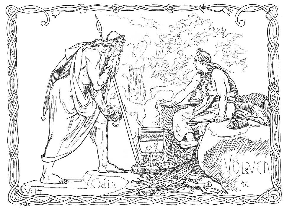 Odin et la volva