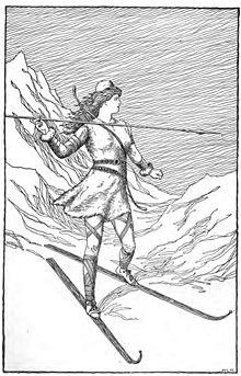 Skadi hunting in the mountains by h l m